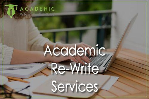 Academic Re-Write Services