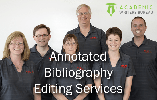Anpassade Annotated Bibliography Editing Services